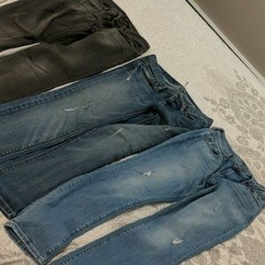3 pairs of skinny jeans size 2/4
